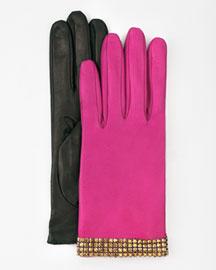 Kate Spadeshort bracelet gloves :  pink designer neimanmarcus glam