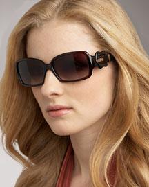 Fendi Fendi B Buckle Sunglasses, Square