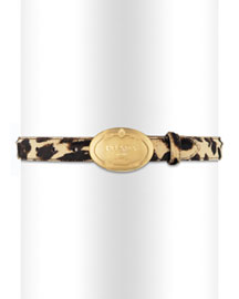 Prada Leopard-Print Belt -  Accessories -  Neiman Marcus :  luxe print silver clothing