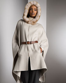 Loro Piana Cashmere Bolton Cape Martora -  Women's -  Neiman Marcus :  loro piana fashion accessories collection designer