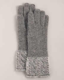 Neiman Marcus Cashmere Knit Gloves -  Accessories -  Neiman Marcus