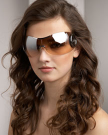 Dior Large Rimless Shield Sunglasses -  Neiman Marcus from neimanmarcus.com