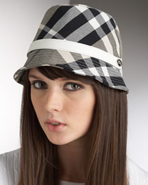 Burberry Claudia Button Trench Hat -  Hats -  Neiman Marcus