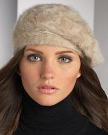 Kokin Angora Beret- Hats- Neiman Marcus