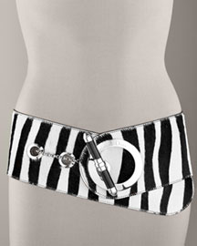 Christian Dior Wide Zebra-Print Belt -  Accessories -  Neiman Marcus