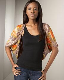 Deepa Gurnani Sequined Cocoon Wrap- Scarves & Wraps- Neiman Marcus