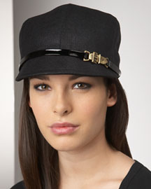 Eugenia Kim Muffy Waxed Linen Hat -  Hats -  Neiman Marcus :  design fashion accessories designer hat