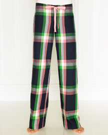 Juicy Couture            Plaid Flannel Pajama Pants -   		Juicy Couture - 	Neiman Marcus :  blue spandex flannel multicolor