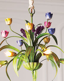 Tulip Chandelier -  Chandeliers & Pendants  -  Neiman Marcus :  floral lighting chandelier