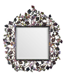 Jay Strongwater            Mirror -   		For the Home - 	Neiman Marcus :  swarovski jay strongwater handpainted enamel