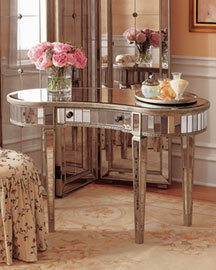 Mirrored Vanity Table -   		Accent Furniture - 	Neiman Marcus :  bedroom