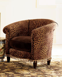 Cheetah Tub Chair -  Chairs -  Neiman Marcus :  tan interior chair cheetah