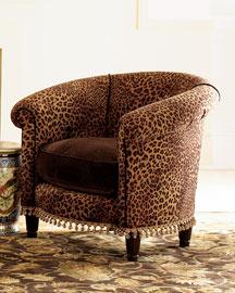Cheetah Tub Chair- Chairs- Neiman Marcus :  tan interior chair cheetah