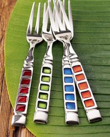 20-Piece Enamel Flatware-  Stainless Steel-Neiman Marcus