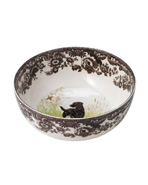 Hunting Dog Serving Bowl