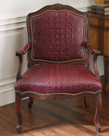 Gator Carved Chair -  Berry Colors -  Neiman Marcus :  frame chair croc gator