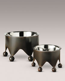 Jan Barboglio Small Crown Pet Bowl -  For Pets & Owners -  Neiman Marcus :  pets dog bowl dogs bowls