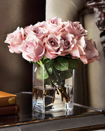Faux Rose Arrangement -  For Her -  Neiman Marcus :  valentines day roses gifts faux flowers