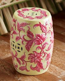 Garden Seat- Feminine- Neiman Marcus :  garden interior home accessories home goods