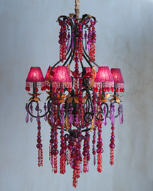 Red & Fuschia Chandelier