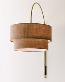Shaded Arc Sconce -  Lighting -  Neiman Marcus :  antique finish lighting sconce brass