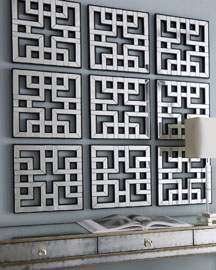 Three Fretwork Panels -   		Mirrors & Wall Decor - 	Neiman Marcus