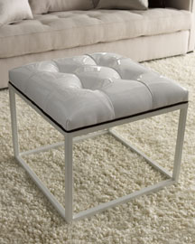 White Ottoman, Each -   		Furniture - 	Neiman Marcus