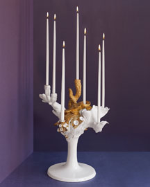 Lladro            Candleholder -   		Crystal & Collectibles - 	Neiman Marcus :  home metallic candles porcelain