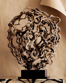 Vine on Stand Sculpture -   		Decorative Accents - 	Neiman Marcus :  nature home accents sculpture wood