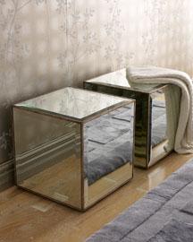 Mirrored Cube, Each-  Furniture-Neiman Marcus from neimanmarcus.com