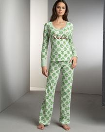 Scanty Peace Pajamas- Pajamas- Neiman Marcus