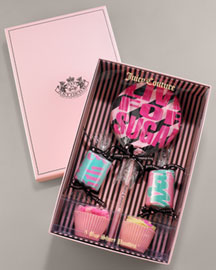 Juicy Couture            Boxed Sugar Treats Boyshorts, Set of Five -   		Juicy Couture - 	Neiman Marcus :  cupcake elastic scalloped boxed
