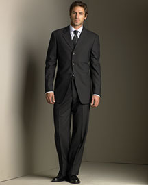 Armani Collezioni Three-Button Suit -  Suits & Sportcoats -  Neiman Marcus
