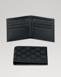 Gucci Basic Wallet, Black -  Wallets -  Neiman Marcus