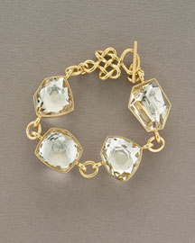 H.Stern DVF Rock Crystal Quartz Bracelet -  DVF for H.Stern Jewelry -  Neiman Marcus :  quartz yellow toggle gold