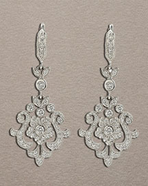 Penny Preville Pave Flower Earrings -  Earrings -  Neiman Marcus :  fashion accessory fashion accessories designer jewelry