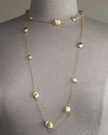 Confetti Necklace -  Neiman Marcus :  necklace confetti gold long