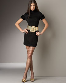 D&G Dolce & Gabbana Minidress -  Apparel -  Neiman Marcus :  black dress dolce gabbana ruched bust seamed front