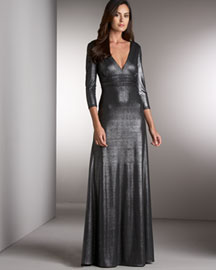 David Meister Metallic Gown -  David Meister -  Neiman Marcus