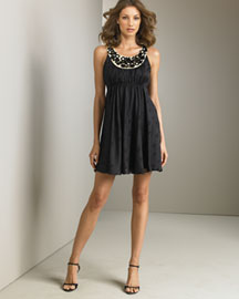 Milly Beaded Silk Dress -  Milly -  Neiman Marcus
