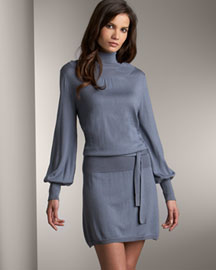 Magaschoni            Turtleneck Dress -   Neiman Marcus :  poet sleeves neimanmarcus dress turtleneckk dress
