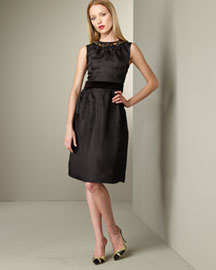 D&G Dolce & Gabbana Gathered Dress -  European Contemporary -  Neiman Marcus :  black dress dress dg high fashion