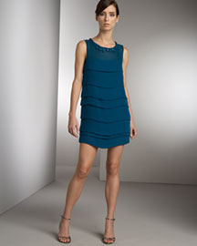 MINT jodi arnold Georgette Tiered Dress -  MINT jodi arnold -  Neiman Marcus :  blue minidress short dance