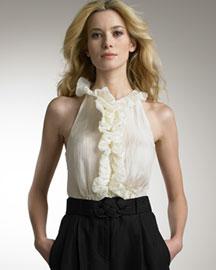 Robert Rodriguez Ruffled Top- Femininity- Neiman Marcus :  blouse fashion ruffles tank