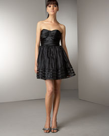 Betsey Johnson Strapless Dress -  Shop By Silhouette -  Neiman Marcus :  mini designer dress ruching