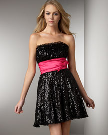 Betsey Johnson Sequined Dress -  Shop By Silhouette -  Neiman Marcus :  sequined designer dress dresses