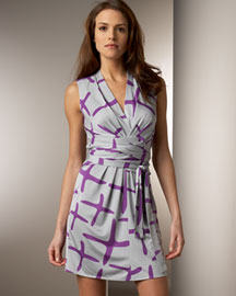Issa London Silk Tie-Waist Dress -  Apparel -  Neiman Marcus :  silk purple issa london artsy