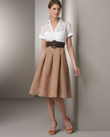 Kay Unger New York Two-Tone Shirtdress- Wear to Work- Neiman Marcus