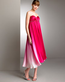 Marc Bower Glamit! Hilo Ombre Silk Gown -  Dresses -  Neiman Marcus :  woman summer different dresses