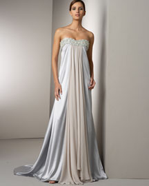 Marc Bouwer Glamit! Beaded Silk Gown -  Bridal Gowns -  Neiman Marcus